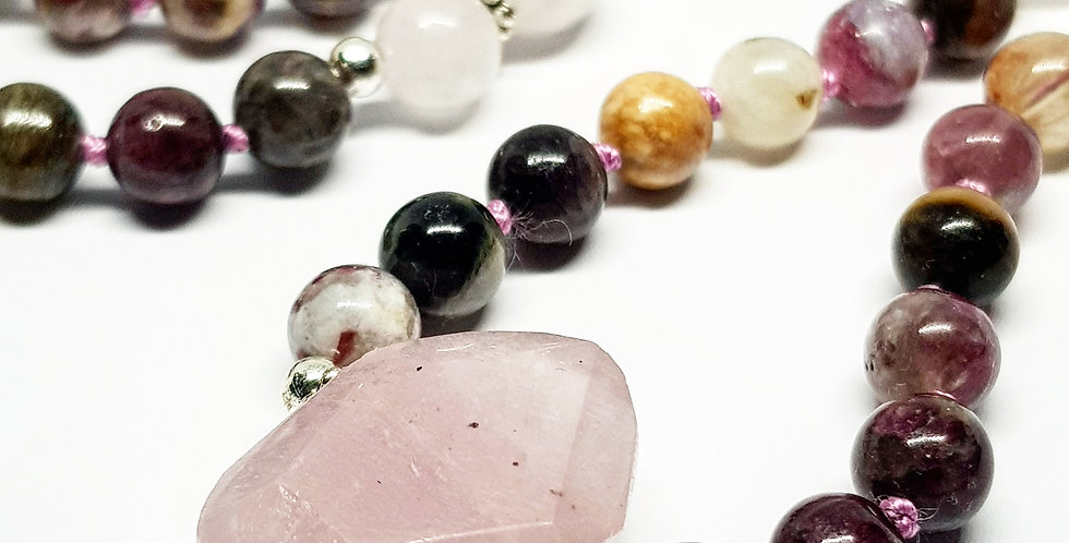Tourmaline & Rose Quartz