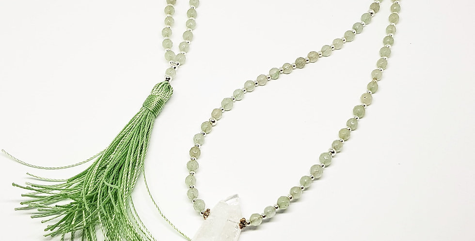 Awakening ~ Green Aventurine with tassel