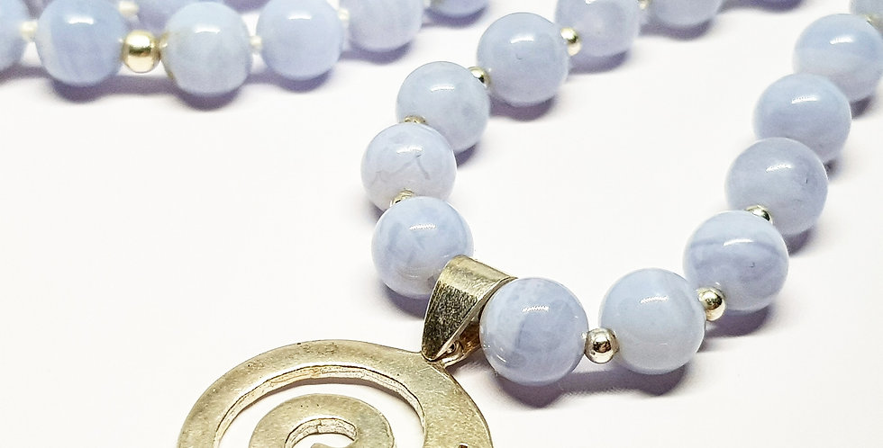 Blue Lace Agate ~ Circle Of Life