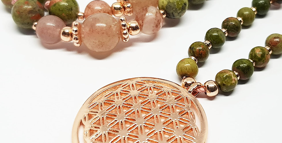 Flower Of Life ~ Unakite
