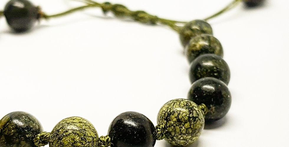 African Jasper bracelet with knots
