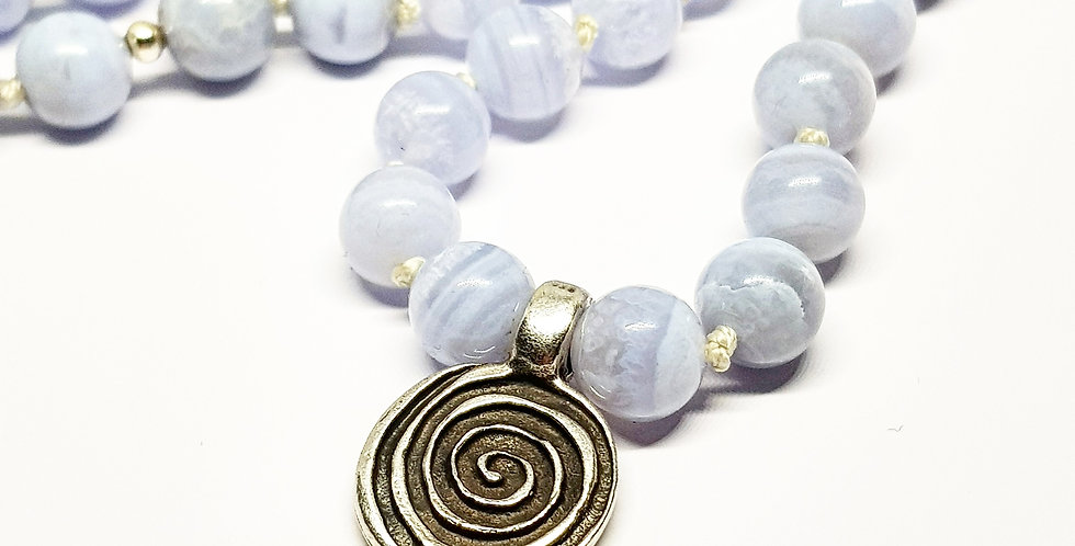 Blue Chalcedony ~ Circle Of Life