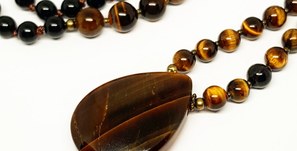 Tiger's Eye, Black Onyx & Sandalwood