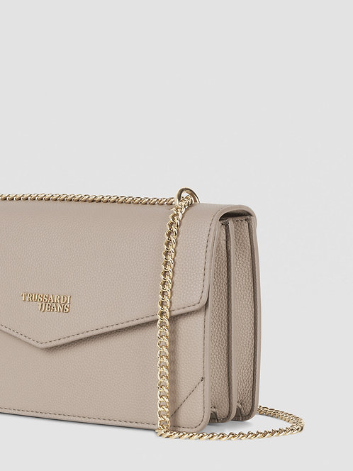 Borsa Trussardi Cross-body Charlotte medium tortora