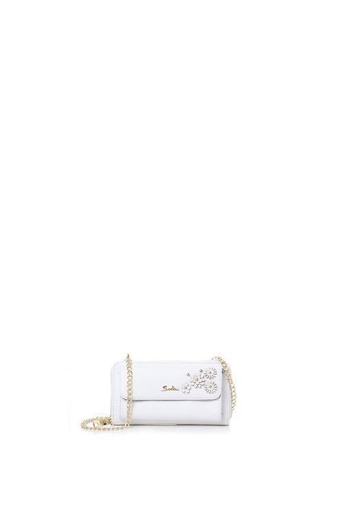 Pochette portafoglio B30068A bianco