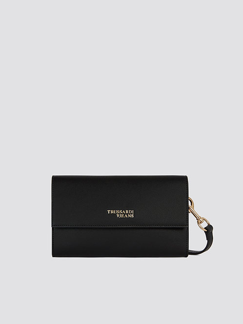 Borsa Trussardi Clutch T-Easy light nero