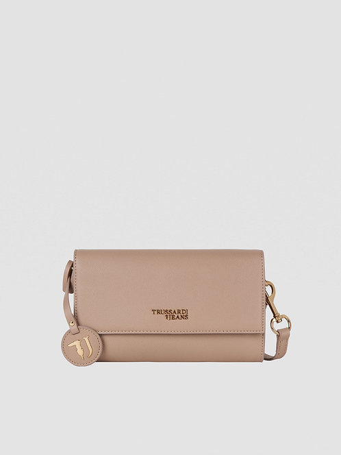 Borsa Trussardi Clutch T-Easy light sand