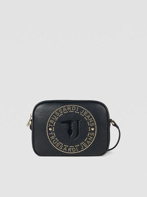 Tracolla case Harper con borchie nero