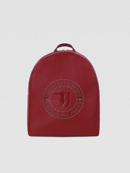 Zaino Harper medium con borchie rosso scuro
