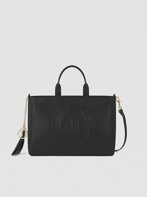 Borsa Trussardi Shopping bag Faith medium nero