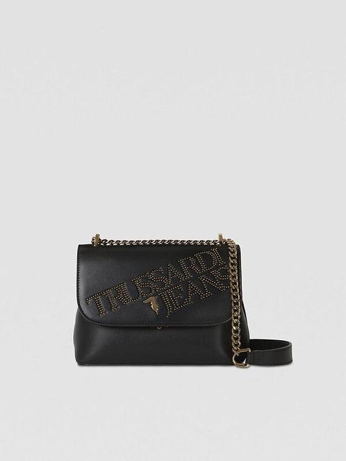 Tracolla medium con borchie nero