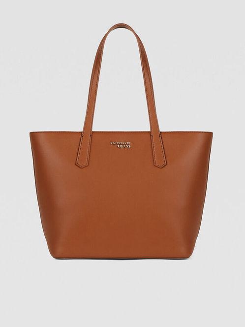 Borsa shopping tote bag medium cuoio