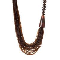 Collana multifili 411010 marrone
