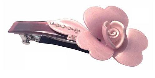 Fermaglio barretta rosa glitter 370