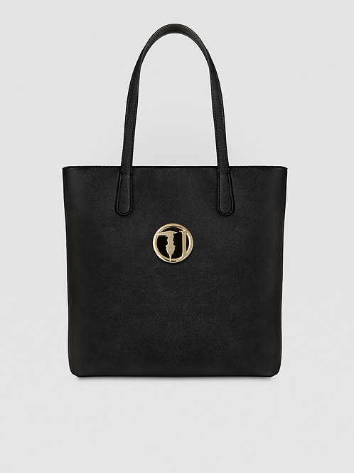 Borsa Trussardi Shopping Bag Sophie medium saffiano nero