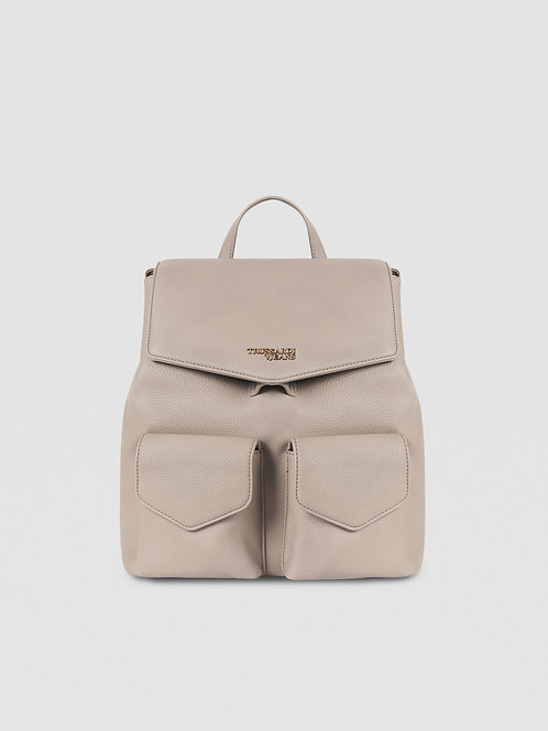 Zaino Chrlotte  medium due tasche beige