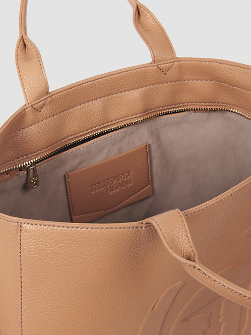 Borsa Trussardi Shopping bag Faith large sand
