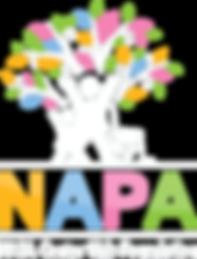 NAPA Center Kids Foundation logo Dark Ba