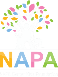 NAPA Center Kids Foundation logo Dark Ba