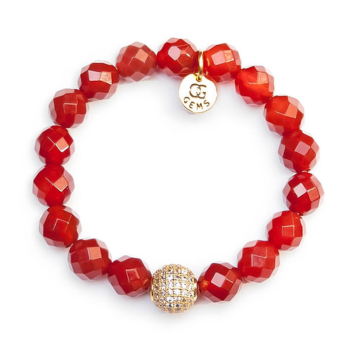 AVA • FACETED CARNELIAN 10MM