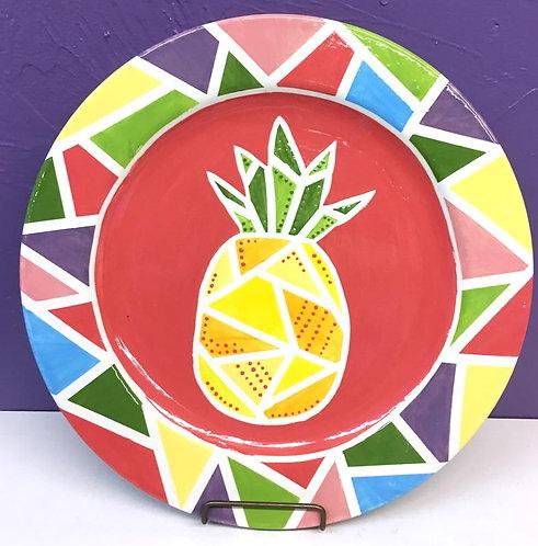 Pineapple Geometric Platter