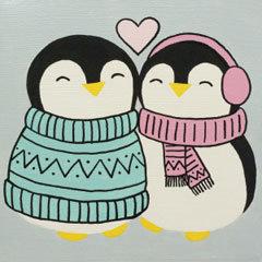 Penguin Love Canvas