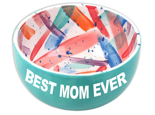 Bowl w/ Mother's Day Stickers