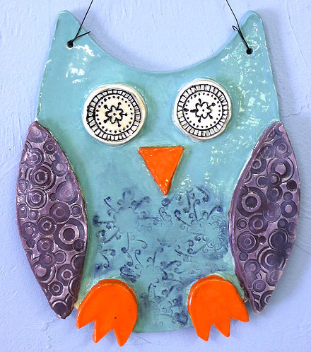 Owl Plaque Air Dry Clay