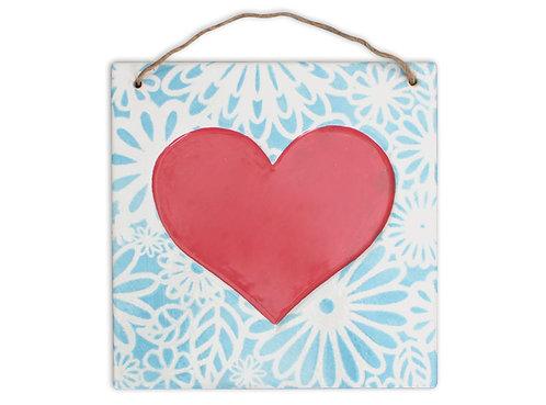 Inset Heart Plaque