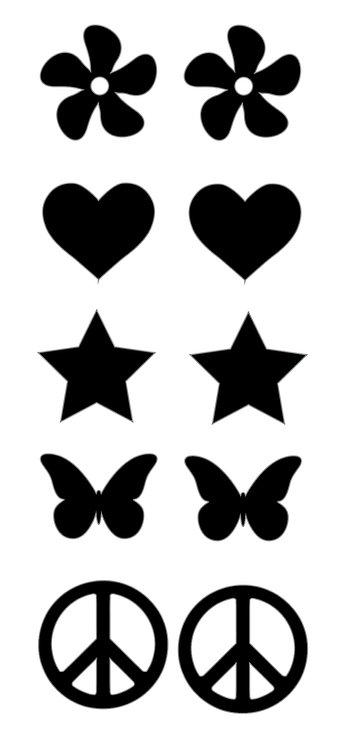 Set of Basic Vinyl Stickers