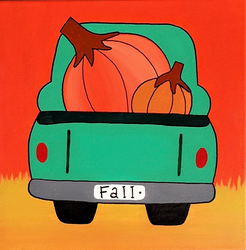 Fall Truck Canvas