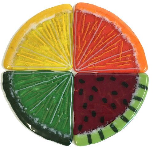 Triangle Fruit Slice Glass