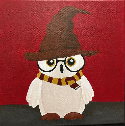 Harry Potter Owl Canvas