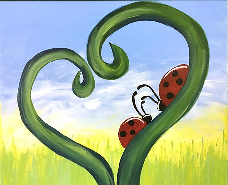 Large Lovely Ladybug Canvas