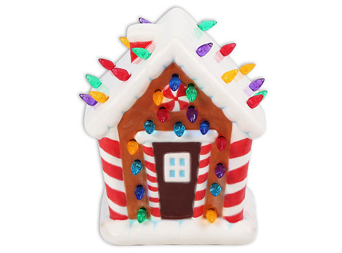 Gingerbread House Lighted