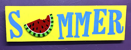 Summer w/ Watermelon Board Art