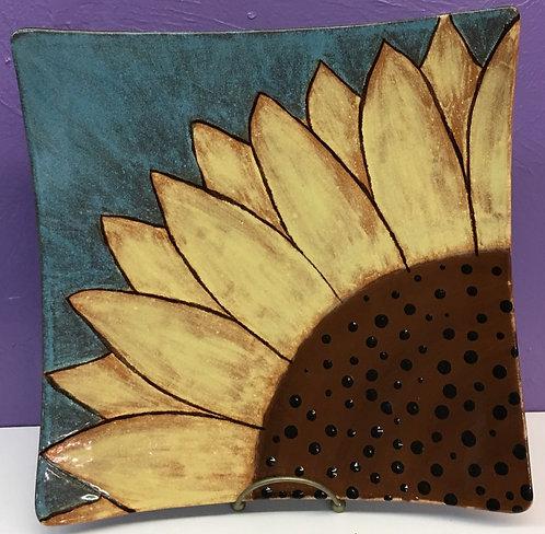 Sunflower Platter w/ Specialty Glazes