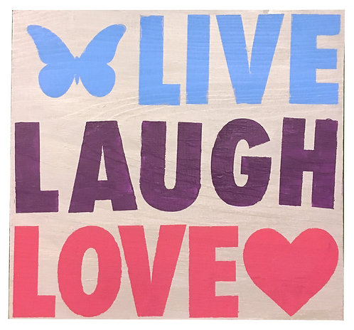 Live, Laugh, Love Board Art
