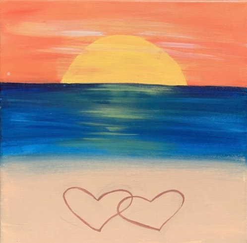 Beach Sunset Canvas