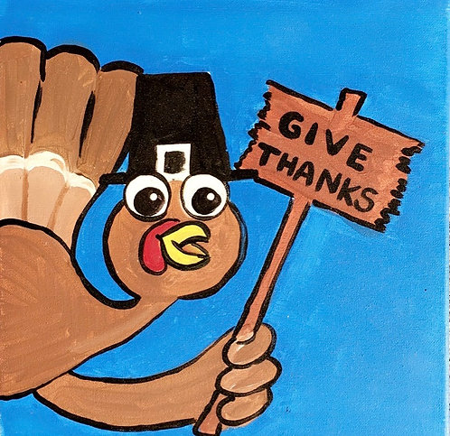 Give Thanks Turkey Canvas