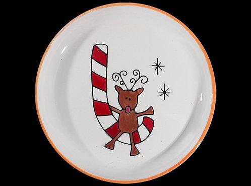 Prelined Reindeer Plate