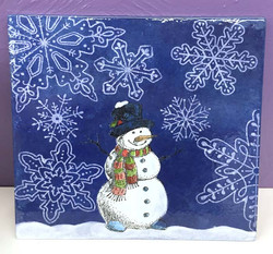 Snowman Silk Screen