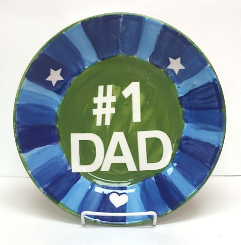 Plate w/ stickers for Father's Day