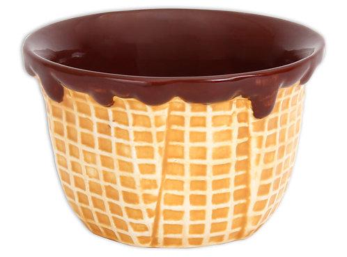 Waffle Cone Ice Cream Bowl