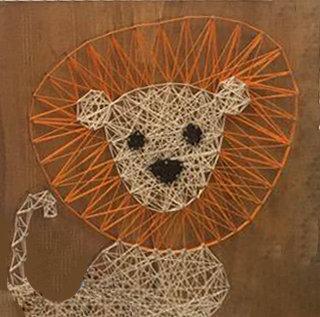 Lion String Art