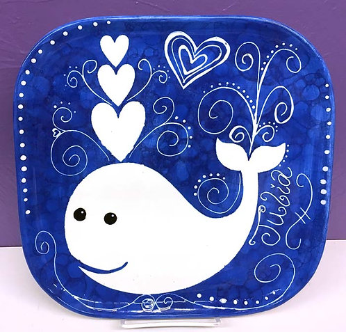 Bubbled Whale Plate