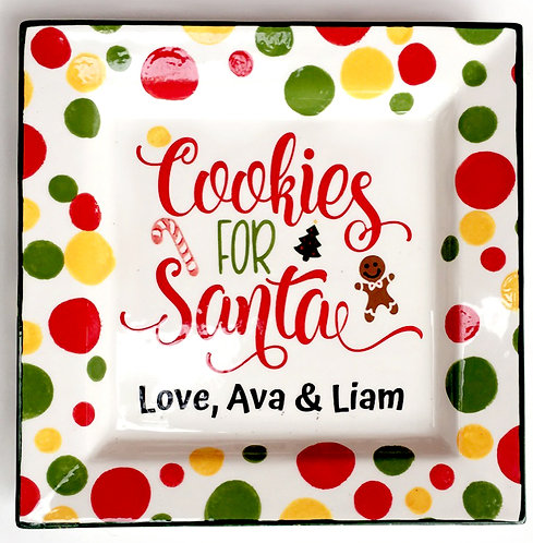Cookies for Santa Personalized Platter