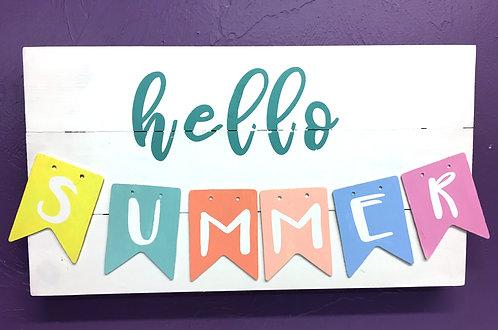 Hello Summer Board Art