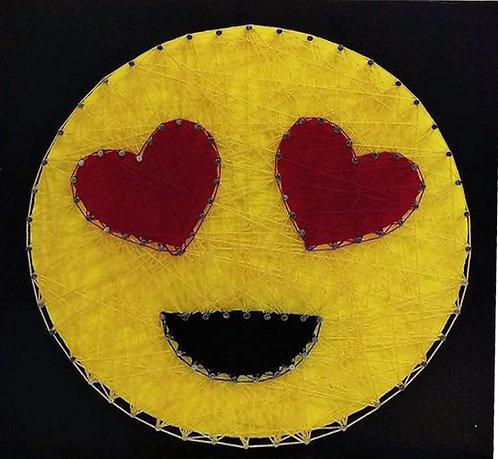 Emoji Heart Eyes String Art
