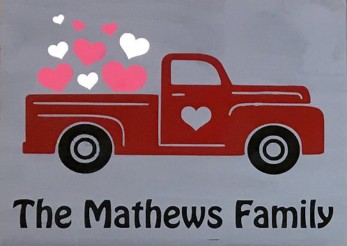 Love Truck w/ Name Board Art